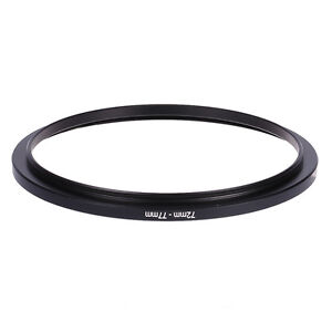 72mm-77mm-72mm-To-77mm-Step-Up-Rings-Metal-Filter-Ring-Adapter-72-77-Black