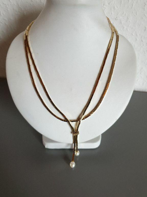 COLLANA grossé colori oro a fila doppia 2 perle perle perle preziose bigiotteria senza tempo cp5617 cdf023