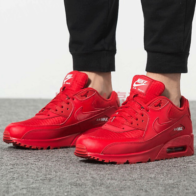 best service f72a7 eced4 New NIKE Air Max 90 Mens Sneaker triple red white all sizes | eBay