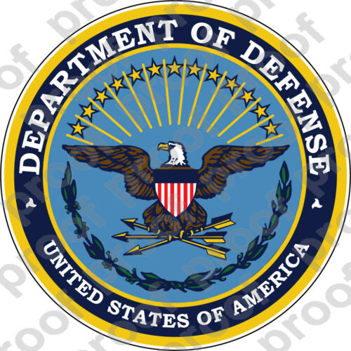 STICKER ALL UNITED STATES DEPARTMENT OF DEFENSE OLD