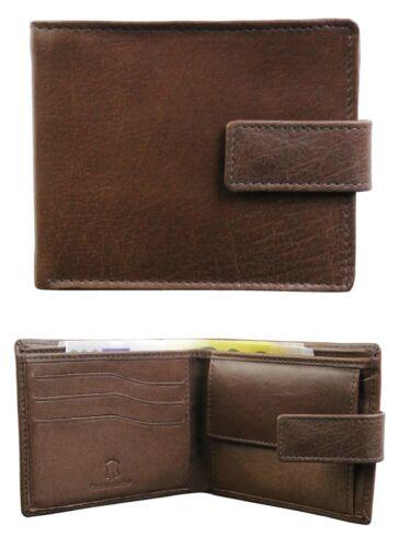 Mens Real Soft Leather Wallet Change Credit Card Cash Holder Black Brown Boxed
