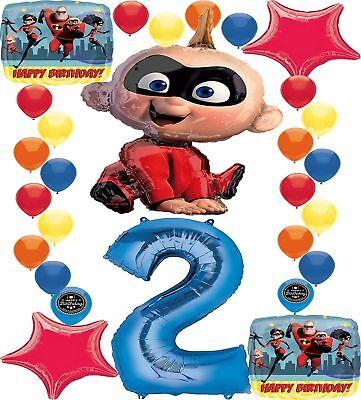 5 Piece Incredibles 2 Birthday Balloon Bouquet Party Supplies