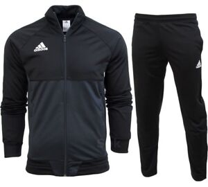 best website ff81b 22176 Image is loading Adidas-Tiro-17-Full-Mens-Zip-Tracksuit-Jogging-