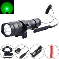 Ultrafire 502b 2000lm Green Led 20mm Mount Tactical Flashlight Hunting Light