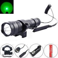 Ultrafire 502b 2000lm Green Led 20mm Mount Tactical Flashlight Hunting Light