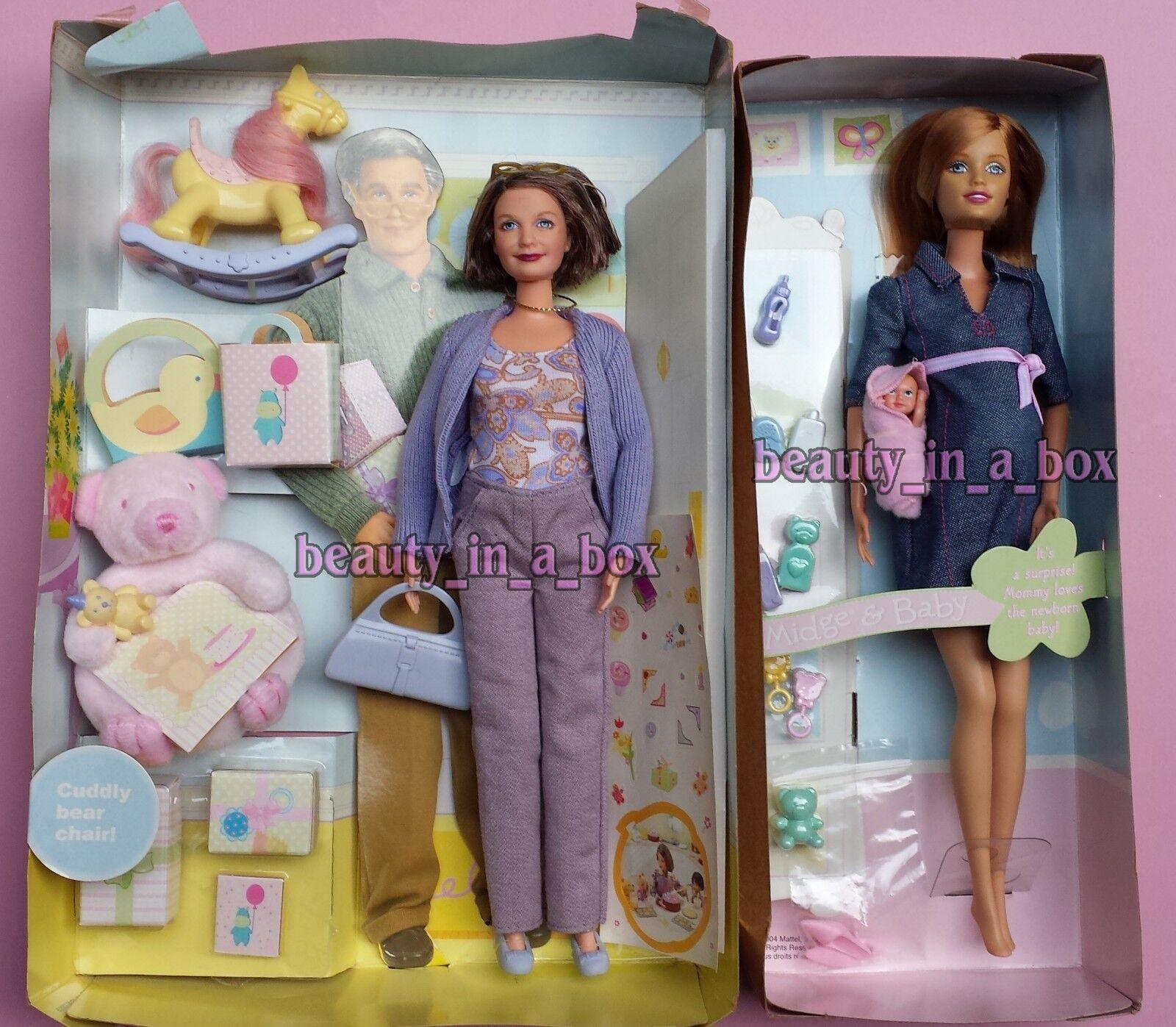 Cecidomia del embarazo y bebé Muñeca Barbie Bump familia feliz abuela Sin Caja externa  Lote 2
