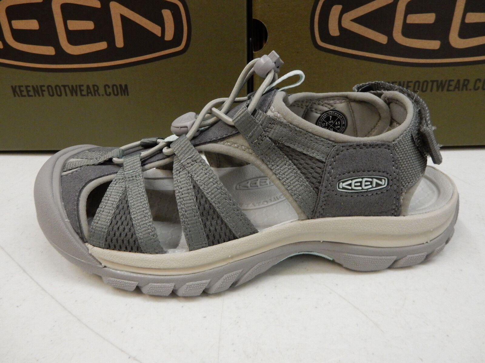 Keen Womens Venice II H2 Castor Grey London Fog Size 7.5