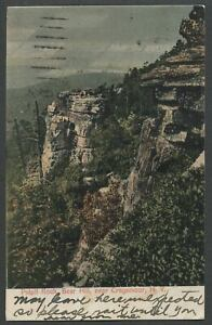 Cragsmoor NY: c.1907 Postcard PULPIT ROCK BEAR HILL Shawangunks Near Sam's Point