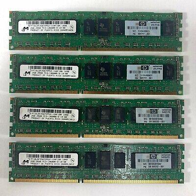 Tested 8GB Lot 4 2GB HP 500202-061 Samsung PC3-10600R DDR3 2Rx8 Server Memory Ra