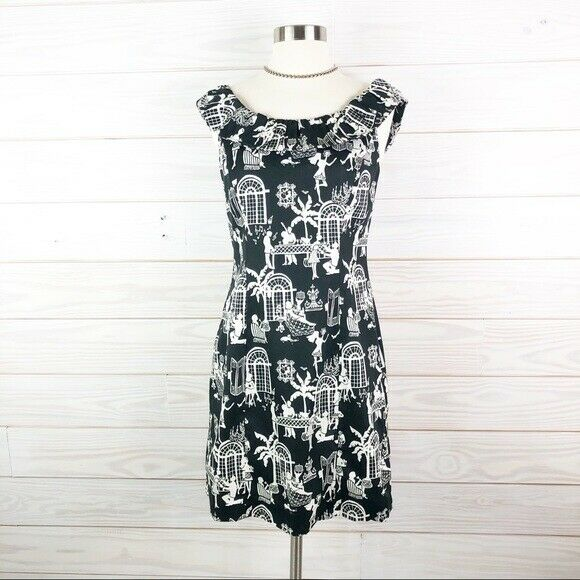 Lilly Pulitzer Dress Dominica Late Night Toile 2 - image 2