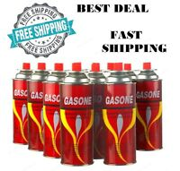 8 Butane Fuel Gasone Canisters For Portable Camping Stoves Outdoor 8 Oz 8 Cans