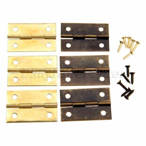 Décoration Armoire Charnière /& Vis classique bijoux en bois Boîte Cadeau Maison de poupées