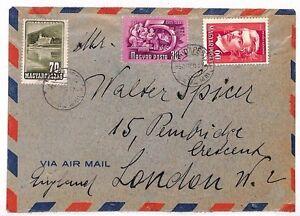 Uu254 1950 Hongrie Budapest Inhabituel Timbres Londres Gb Cover {samwells Couvre -}-rs}fr-fr Afficher Le Titre D'origine