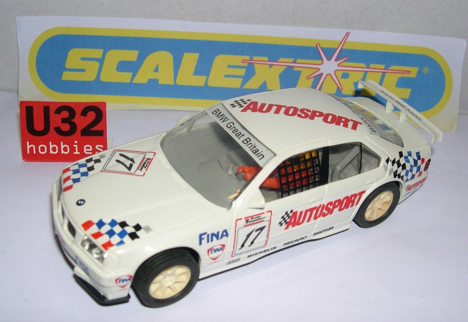 SCALEXTRIC BMW 318I  17 AUTOSPORT ONLY SET C-673 MINT UNBOXED