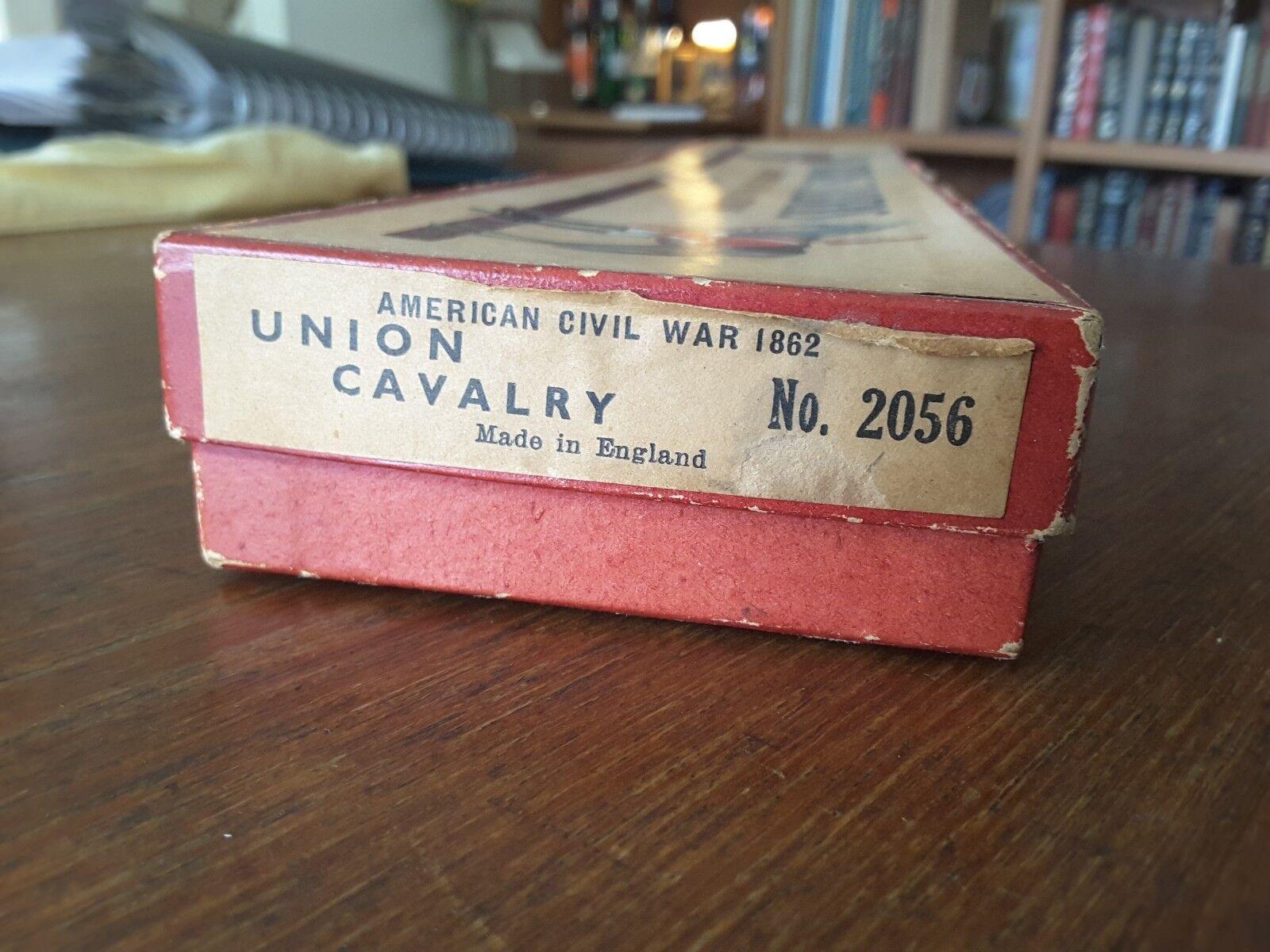W. Britannien 2056 Amerikanska inbördeskriget 1862, 5-stycke Unionens kavalleri i originallådan.