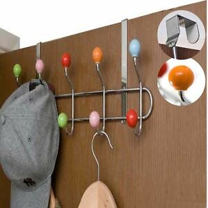 MULTI-COLOR-10-HOOKS-CLOTH-COAT-HANGER-KITCHEN-BATHROOM-TOWEL-HOLDER-ORGANIZER