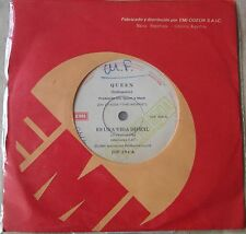"""QUEEN 45 PROMO  It's A Hard Life SOUTHAMERICA 7"""" 1984 Spanish Titles"""
