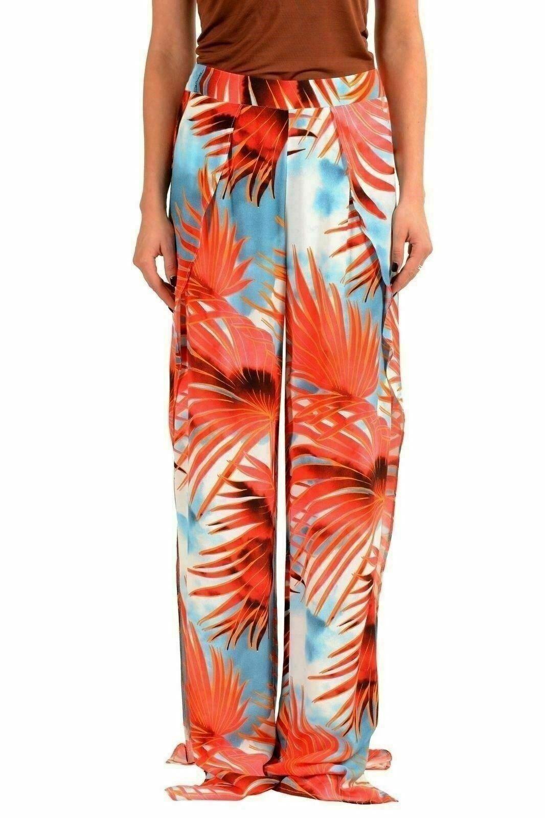 Just Cavalli Women's Floral Wide Leg Casual Pants US 4 IT 40