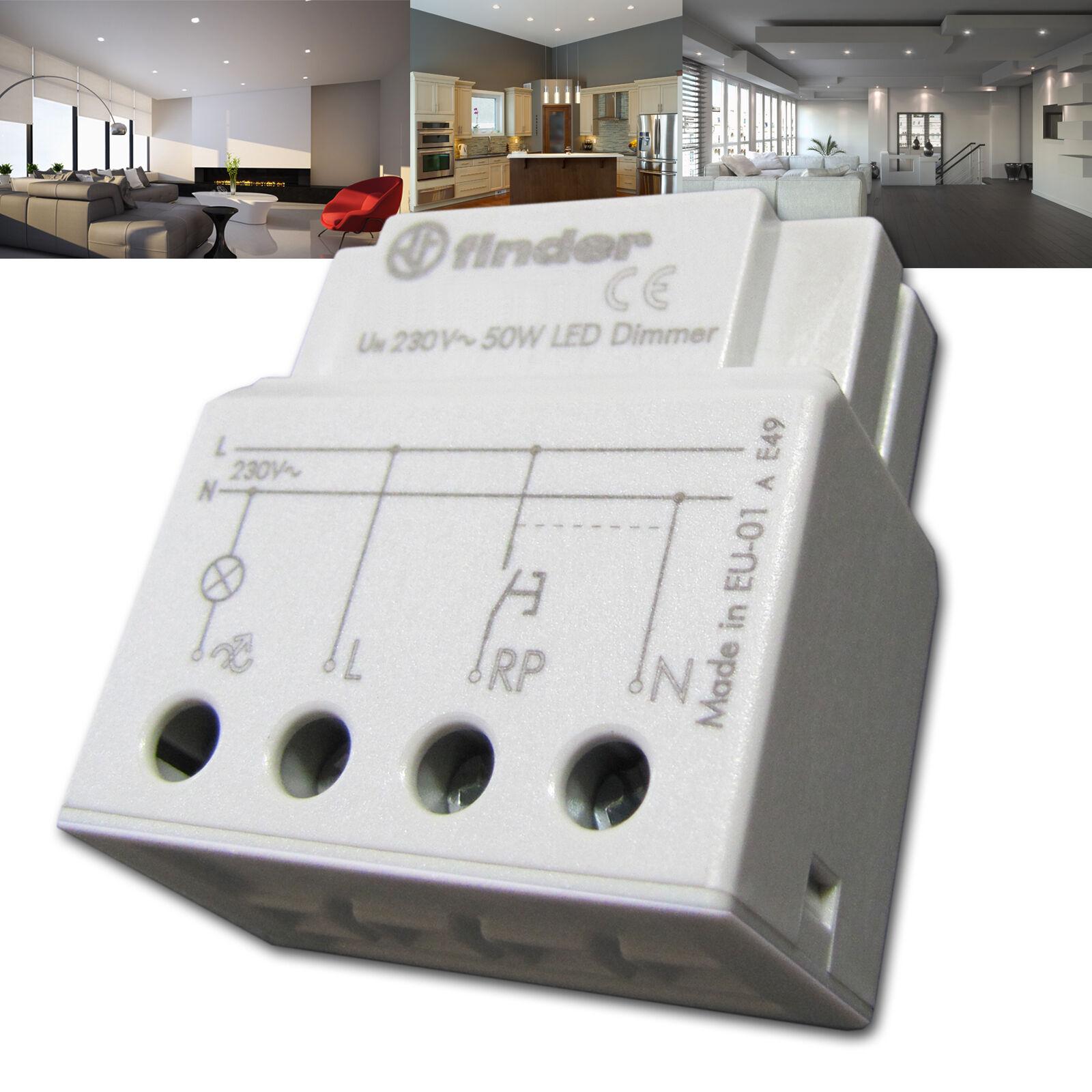 LED Dimmer Helligkeitsregler (für Taster) stufenlos 3- 50W passt in UP Dose 60mm  | Für Ihre Wahl