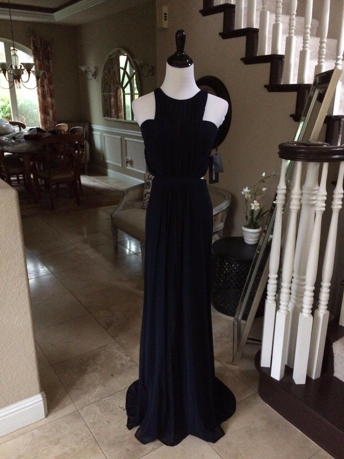 299 NWT NAVY blueE ABBI VONN BY LA FEMME PROM PAGEANT FORMAL DRESS GOWN