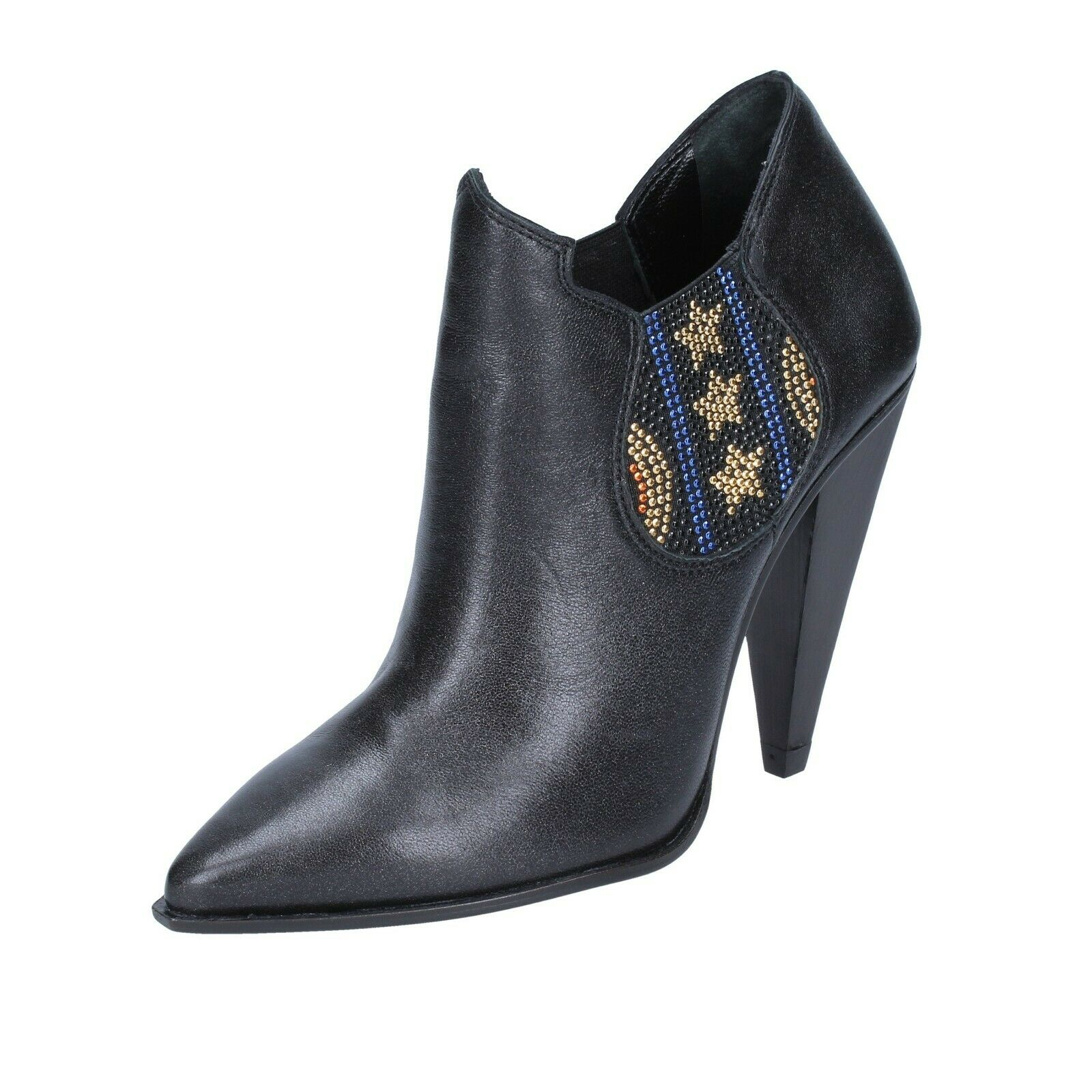 mujer zapatos MARC ELLIS 5 () ankle botas negro leather BS597-38