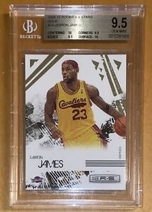 2009-10-LeBron-James-PANINI-ROOKIES-amp-STARS-GOLD-14-500-BGS-9-5-w-10-subs-PSA