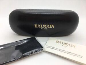 4eb01c1b483b7 Image is loading BALMAIN-EYEGLASSES-SUNGLASSES -BLACK-HARD-CLAMSHELL-CASE-CLOTH-