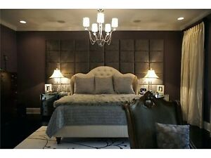 Details about DESIGNER UPHOLSTERED WALL PADDED WALL TILES BEDROOM FEATURE  WALL CRUSHED VELVET