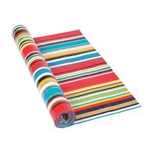 Bright-Color-Fiesta-Serape-Tablecloth-Roll-40-034-x-100ft-Cinco-de-Mayo-Party
