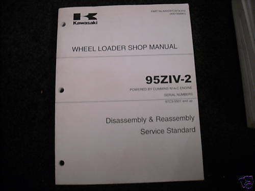 Kawasaki 95ZIV-2  shop manual