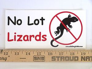 Magnet-No-Lot-Lizards-Magnetic-Bumper-Sticker