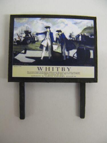 Model Railway Billboard N /& OO Gauge LNER Whitby