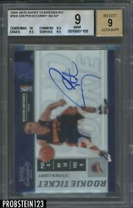 2009-10 Playoff Contenders Rookie Ticket #106 Stephen Curry RC AUTO BGS 9 w/ 10