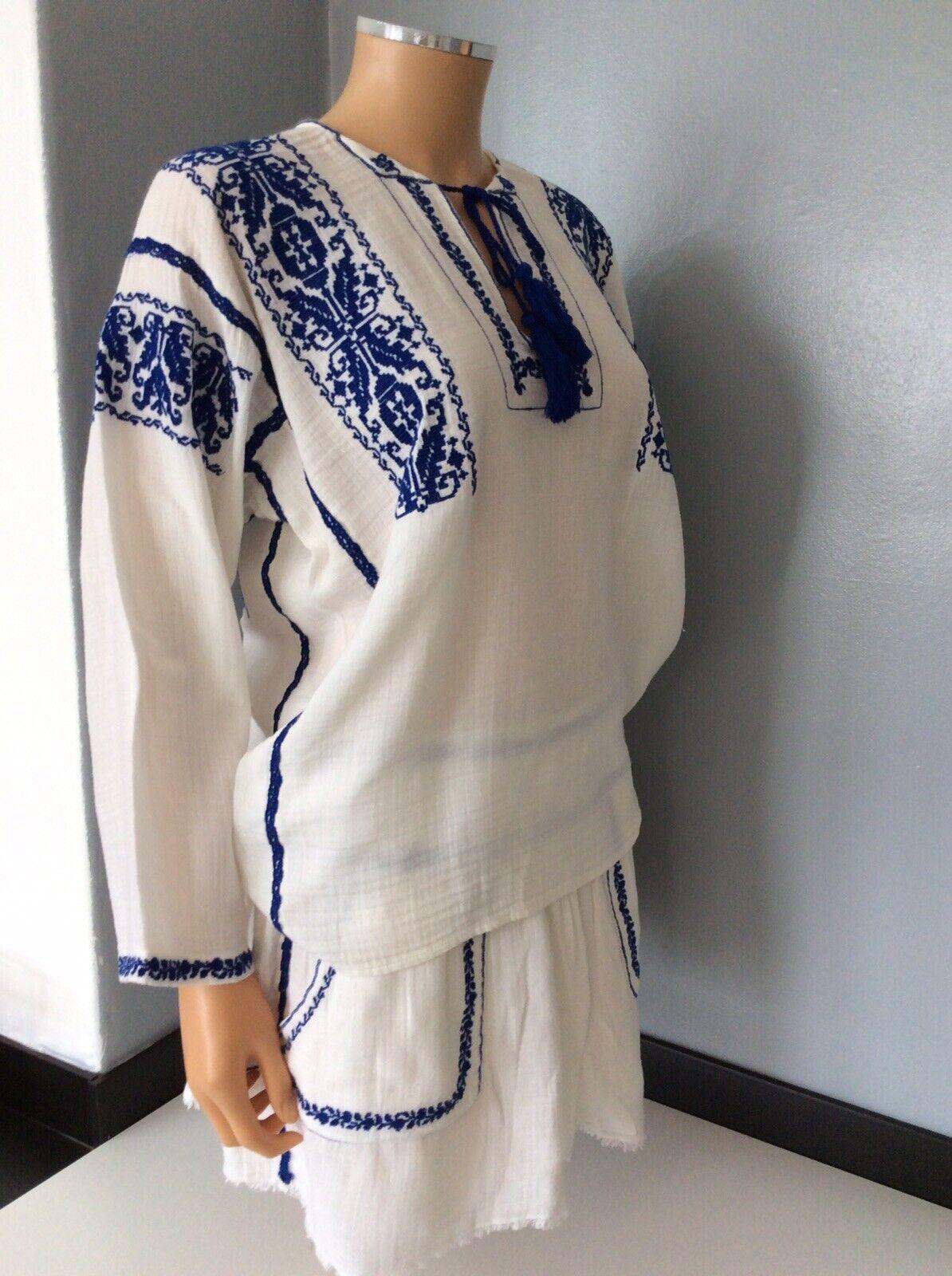 Isabel Marant conjunto Traje Falda & Top Talla  38 Reino Unido 10 Crema y Azul Marino en muy buena condición  venderse como panqueques