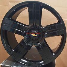 24 Wheels Texas Edition Gloss Black Rims Yukon Denali Silverado Suburban 26