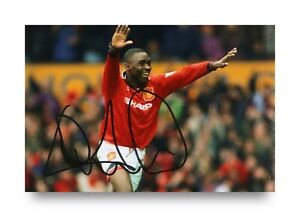Andy-Cole-Signed-6x4-Photo-Manchester-United-England-Autograph-Memorabilia-COA