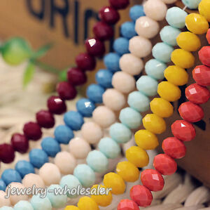 100Pcs-Multicolor-Faceted-Rondelle-Crystal-Loose-Beads-Strand-Jewelry-Making-DIY