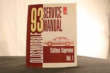 1993 Oldsmobile Cutlass Supreme Service Manual,Volume I