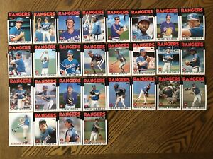 1986-TEXAS-RANGERS-Topps-COMPLETE-Baseball-Card-Team-Set-28-Cards-HOUGH-HOOTEN
