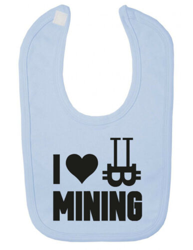 I LOVE Bitcoin Mining Newborn Toddler Baby Bib