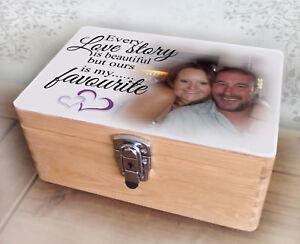 PERSONALISED TIN BOX 10TH ANNIVERSARY WEDDING VALENTINES ENGAGEMENT GIFT STORAGE