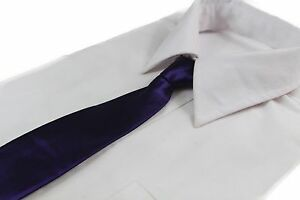 CHEAP-DARK-PURPLE-TIE-Boys-Kids-Baby-Toddler-School-Ties-FORMAL-WEDDING-DRESSY