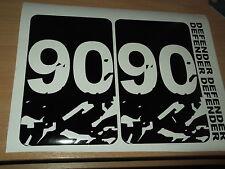 LAND ROVER DEFENDER 90  Body panel bonnet Door Sticker SET