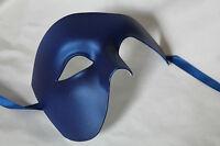 TOP QUALITY BLUE HALF FACE PHANTOM Venetian Masquerade Party Theatrical Mask