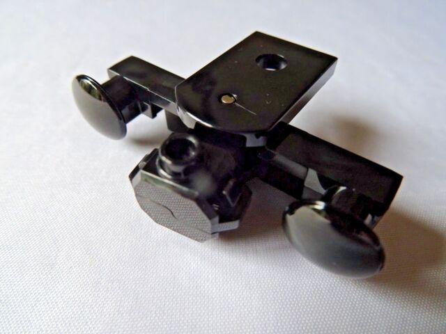 NEW LEGO PART 91968 BLACK TRAIN BUFFER SEALED MAGNETS (TYPE 2) FLAT BOTTOM x 1