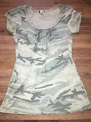 Eyeshadow Top Ladies Size XL Green Camo Top
