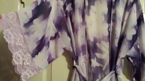Linea donna Sheer m Floral S da Robe Donatella Nuovo Violet Ow7TqdOx