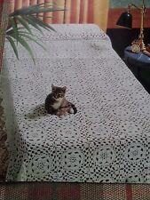 Crochet Pattern Daisy Bedspread Cotton Vintage