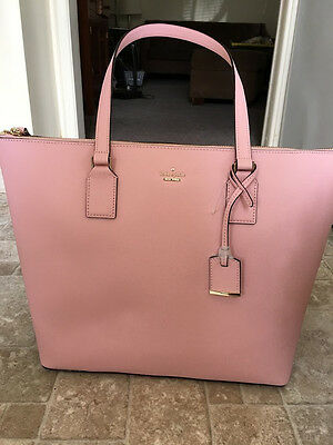 NEW KATE SPADE CAMERON STREET LARGE LUCIE LEATHER TOTE BAG PINK SUNSET