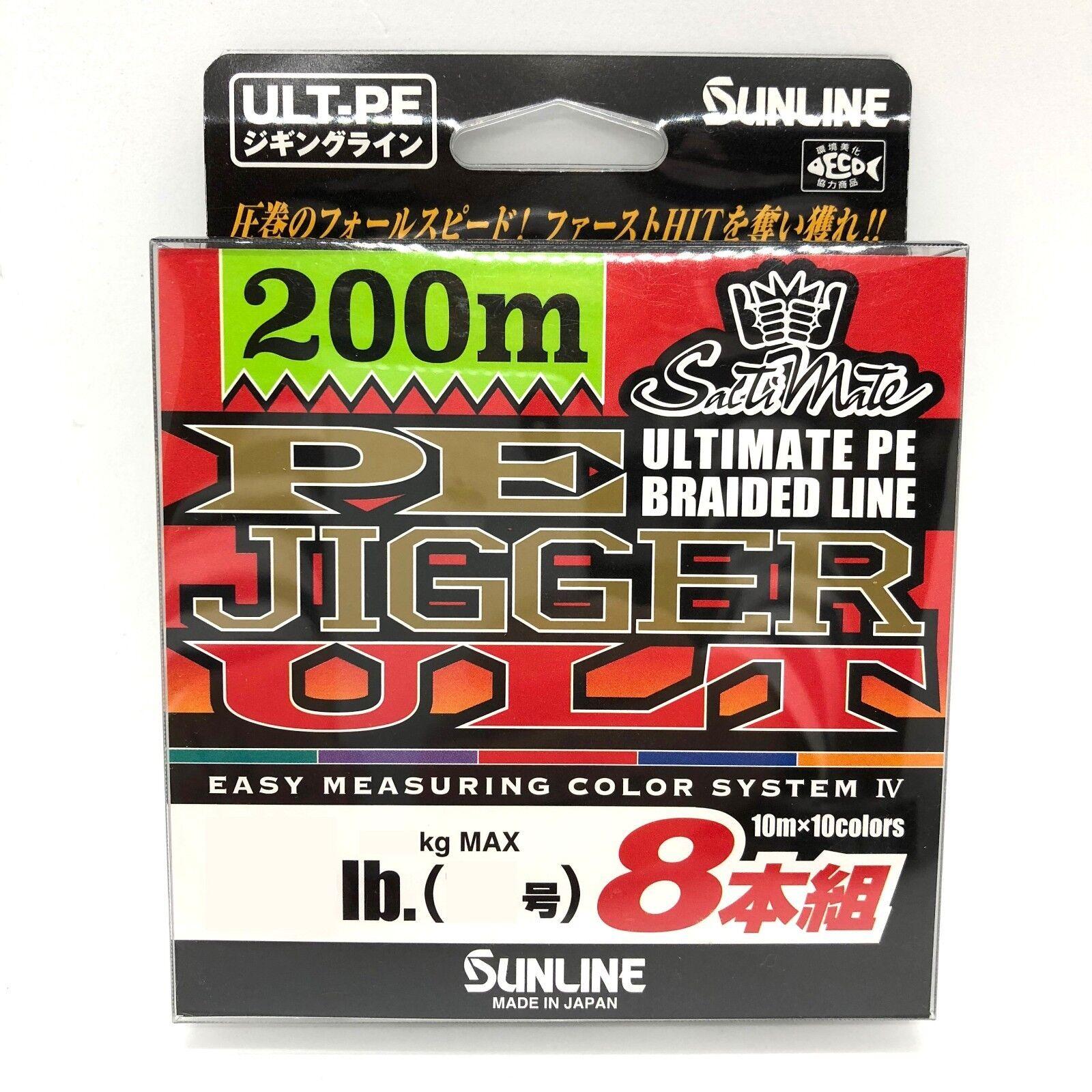 SUNLINE SaltiMate Line PE JIGGER ULT PE X8 Braided Line SaltiMate 200m Select LB 20a600